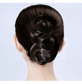 Women's competition ballroom latin dance back hair bangs hair accessories