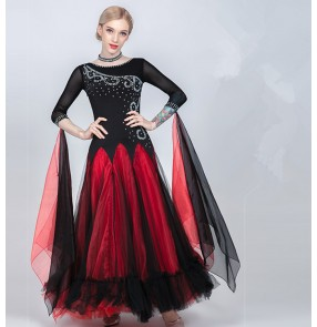 Women;s competition ballroom waltz dancing dresses girls female ballroom modern dance foxtrot tango dance dresses
