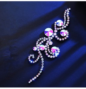 Women's diamond headdress for ballroom latin dance competition hair accessories