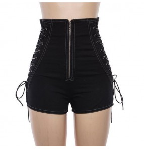 Women's fashion jazz dance shorts gogo dancers modern dance street pole dance high waist shorts
