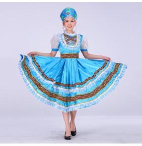Women's girl Russian folk dance dress European Palace court drama video princess maid cosplay dresses