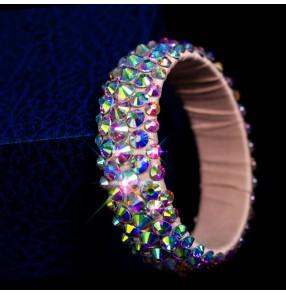 Women's girls ballroom latin belly competition dance rhinestones bracelet bangles