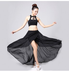 Women's jazz  dance costumes black colored female girls hiphop gogo group dancers stage performance costumes outfits