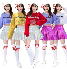 Women's jazz Dance Games Cheerleading Street Dance costumes Jazz Dance Cheerleading Costume Female gogo dancers Performance Costume