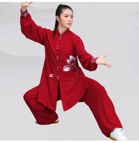 Women's kung fu clothing tai chi uniforms martial art performance clothing  wushu suit for female