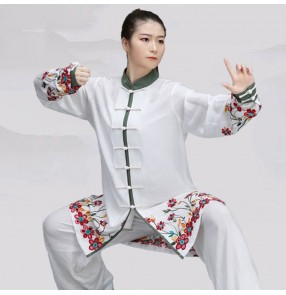 Women's kungfu clothing practice exercises chinese wushu uniforms taichi martial art performance uniforms for unisex