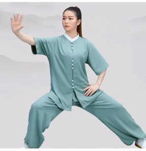 Women's kungfu taichi uniforms martial art chinese wushu practice performance clothing for female