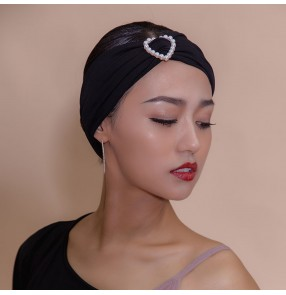 Women's latin ballroom dance head band training exercises stage performance hair accessories