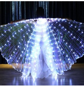 Women's led light belly dance wings belly dance props stage performance led light wings