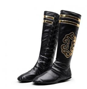 Women's men's pu leather Mongolian dance boots Tibet ethnic minority Mongolia riding performance boots