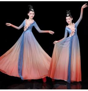 Women's modern dance dress dancers fairy dresses choir dresses singers stage performance dresses
