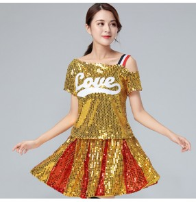 Women's modern dance jazz singers cheerleaders stage performance costumes hiphop dj night club performance outfits