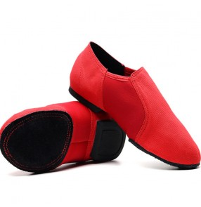 Women's modern jazz dance canvas indoor soft sole ballet gymnastics teacher training dance flats shoes