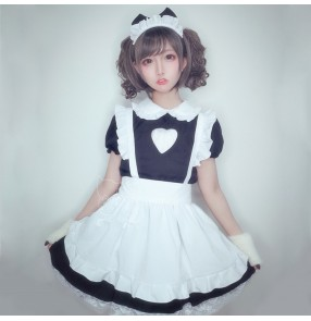 Women's night club maid temptation apron costumes anime drama Japanese style lady lingerie apron uniforms