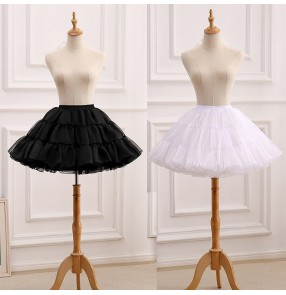 Women's petticoat ballet dresses Boneless soft gauze skirt Lolita short jk uniform party peformance dress under skirt for girls tutu skirt