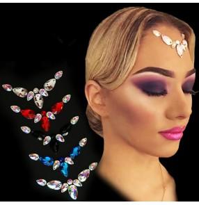 Women's rhinestones competition waltz tango rhinestones headdress hair accessories