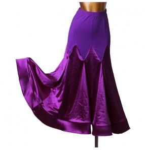 Women's royal blue red black ballroom dancing skirts waltz tango dance skirts costumes