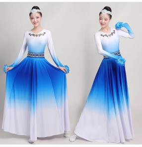 Women's royal blue violet red Mongolian dance dress Monglia dance costumes