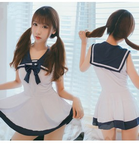 Women's sexy anime drama cosplay sailor temptation costumes lady lingerie uniforms underwear