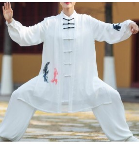 Women's tai-chi kungfu uniforms martial wushu fitness competition performance clothing