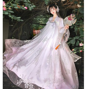 Women's Traditional Chinese Hanfu Chinese style fairy princess cosplay dresses ancient style student full chest skirt