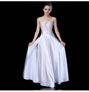 Women's white ballet dance dresses modern dance stage performance competition dresses