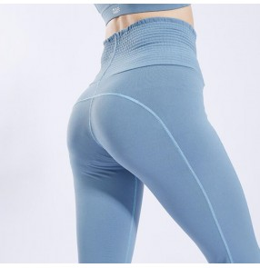 Women's yoga dance pants high waist female fitness tummy control yoga Capris pants workout leggings