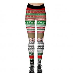 Women's yoga fitness workout gyms pants Christmas print fitness sports hip-lifting high-waist leggings