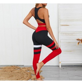 Women's yoga gyms fitness tops and tight pants hip Buttocks exercises sports gyms quick-drying suits