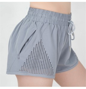 Women's yoga shorts sports with safety undershorts inside running outdoor riding cycling gyms exercises shorts for female