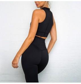 Yoga Suit 2 piece Sports Shirts Crop Top Leggings Sport Set Gym Clothes Fitness Tracksuit Workout Set